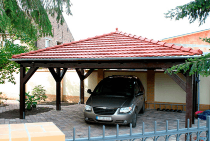walmdach carport auf carport. Black Bedroom Furniture Sets. Home Design Ideas